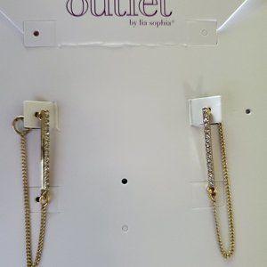 Lia Sophia Outlet Gold Dangling Earrings